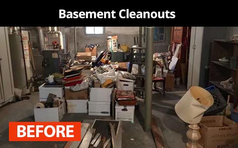 Basement cleanouts services in New York City - before photo