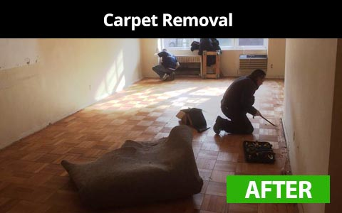 Carpet removal services in New York City - after photo