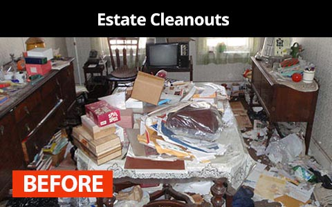 Estate cleanouts services in New York City - before photo
