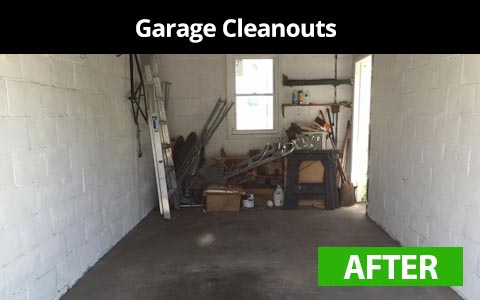 Garage cleanouts services in New York City - after photo