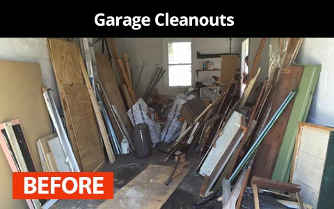Garage cleanouts services in New York City - before photo