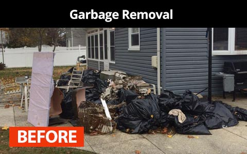 Garbage removal services in New York City - before photo