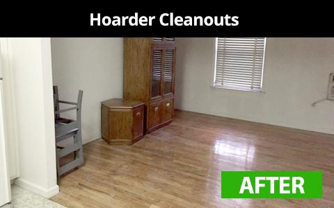 Hoarder cleanout services in Queens, NY - after photo