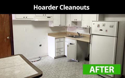 Hoarder cleanout services in New York City - after photo