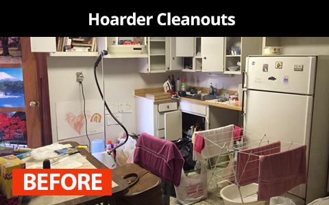 Hoarder cleanout services in New York City - before photo