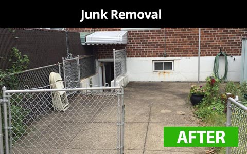 Junk removal services in New York City - after photo