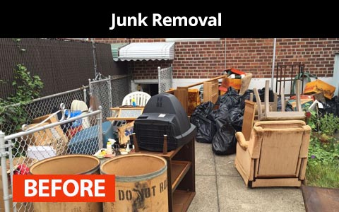 Junk removal services in New York City - before photo