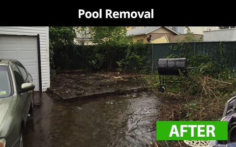 Pool removal services in New York City - after photo
