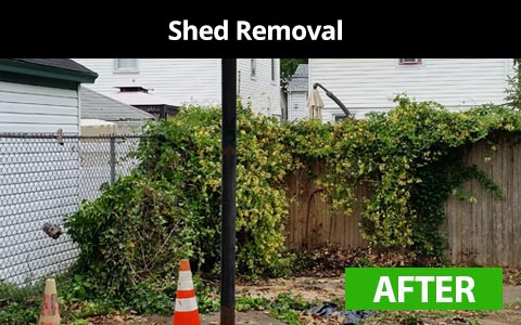 Shed removal services in New York City - after photo