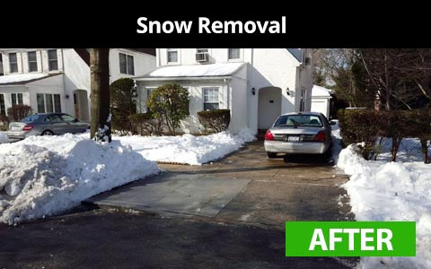 Snow removal services in Queens, NY - after photo