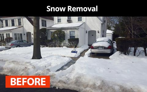 Snow removal services in Queens, NY - before photo