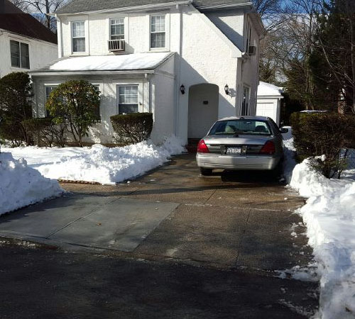 Snow Removal, Driveway After, Queens New York