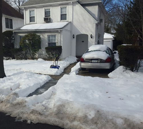 Snow Removal, Driveway Before, Queens New York